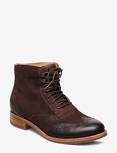 Claremont Boot - BROWN SUEDE/LEATHER