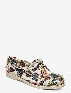 Docksides - instappers - floral earth print