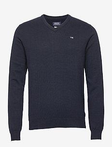 Classic V-Neck - basic knitwear - navy