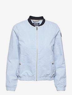 Seersucker Jacket - tunna jackor - blue/white