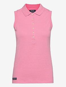 Classic Sleeveless Polo Pique - polohemden - sea pink