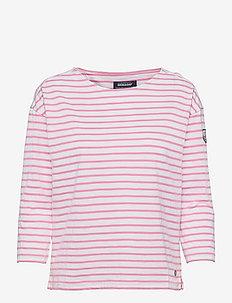 Docksides Sail Top - långärmade toppar - candy pink/white