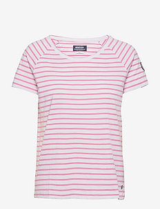 Docksides Sail Tee - t-shirts - candy pink/white