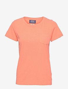 Linen Tee - t-shirts - peach