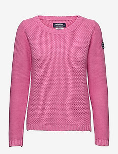 Structure Knitted Crew - tröjor - candy pink