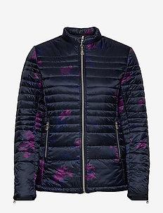 Fairway Light Quilt Jacket - fôrede jakker - navy print