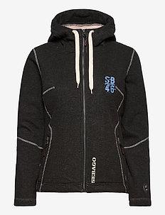 Waterproof Rib Zip FW - hættetrøjer - dark grey