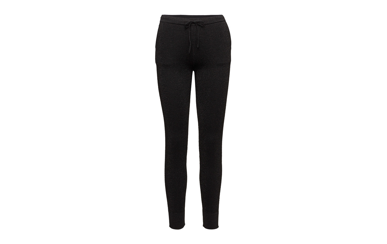13 Black 1 26 Polyester Knit Idal 27 Trousers Second 33 Elastane Polyamide Lurex Viscose Female axqfOUCnwT