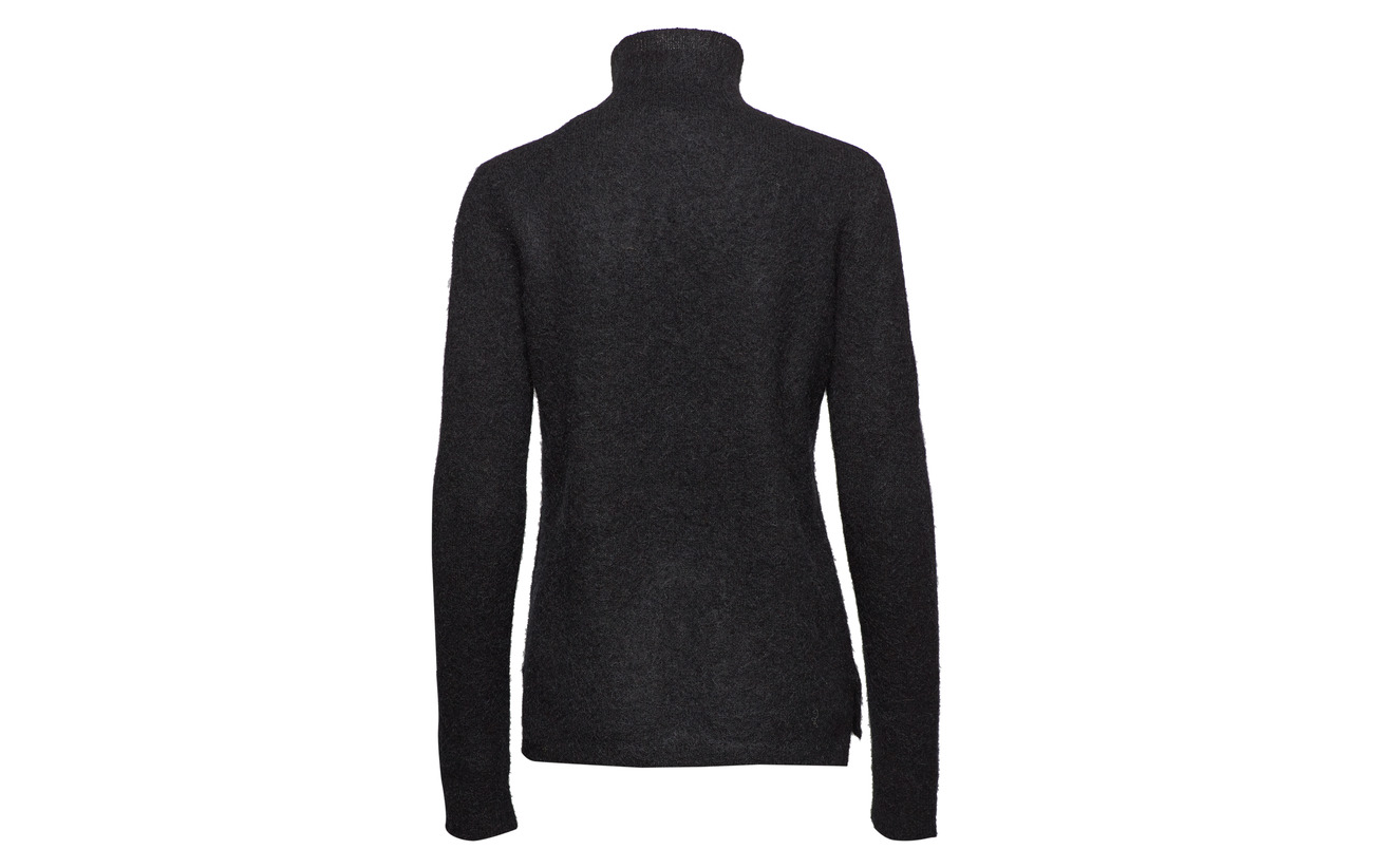 Laine Knit Brook Second 5 T Elastane Rib 34 Mohair Polyamide New Black neck Female 27 11HUqWv