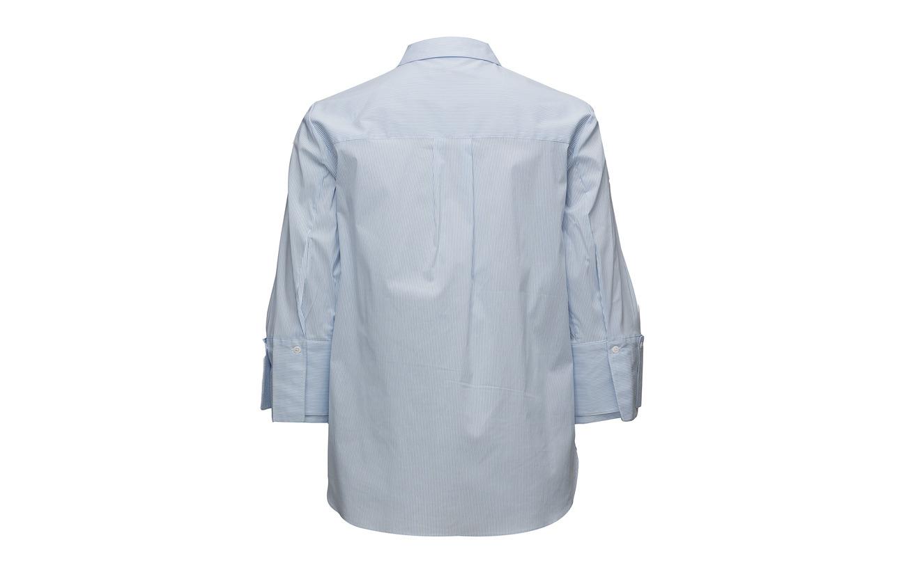 Female Pure Second 65 Shirt Nylon 32 Elastane 3 Coton Blue Z1xnadxg