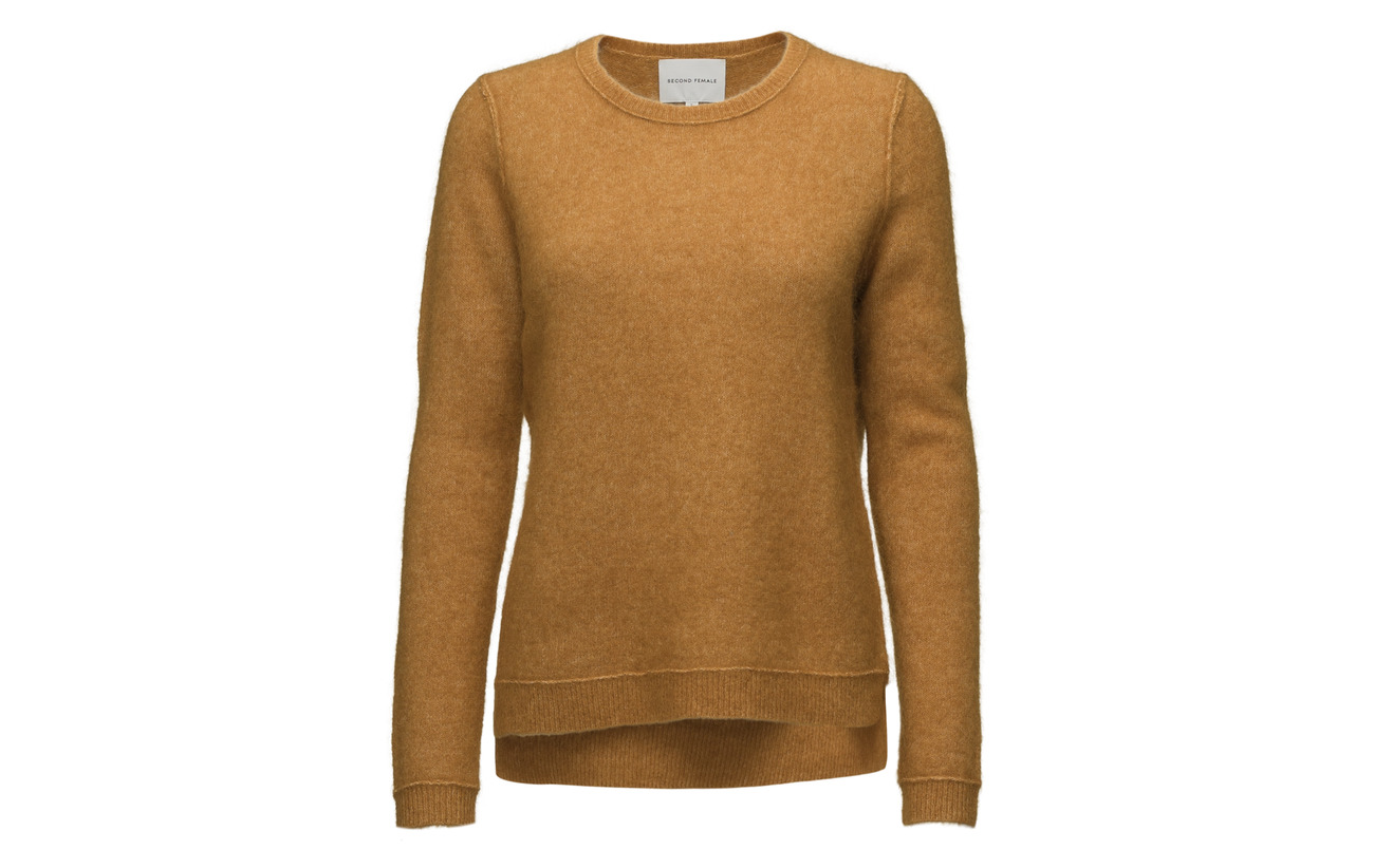 O Raw Female Elastane Laine Brown Brook 27 5 Polyamide Sudan Knit Mohair 34 neck Second nIdtwqgI