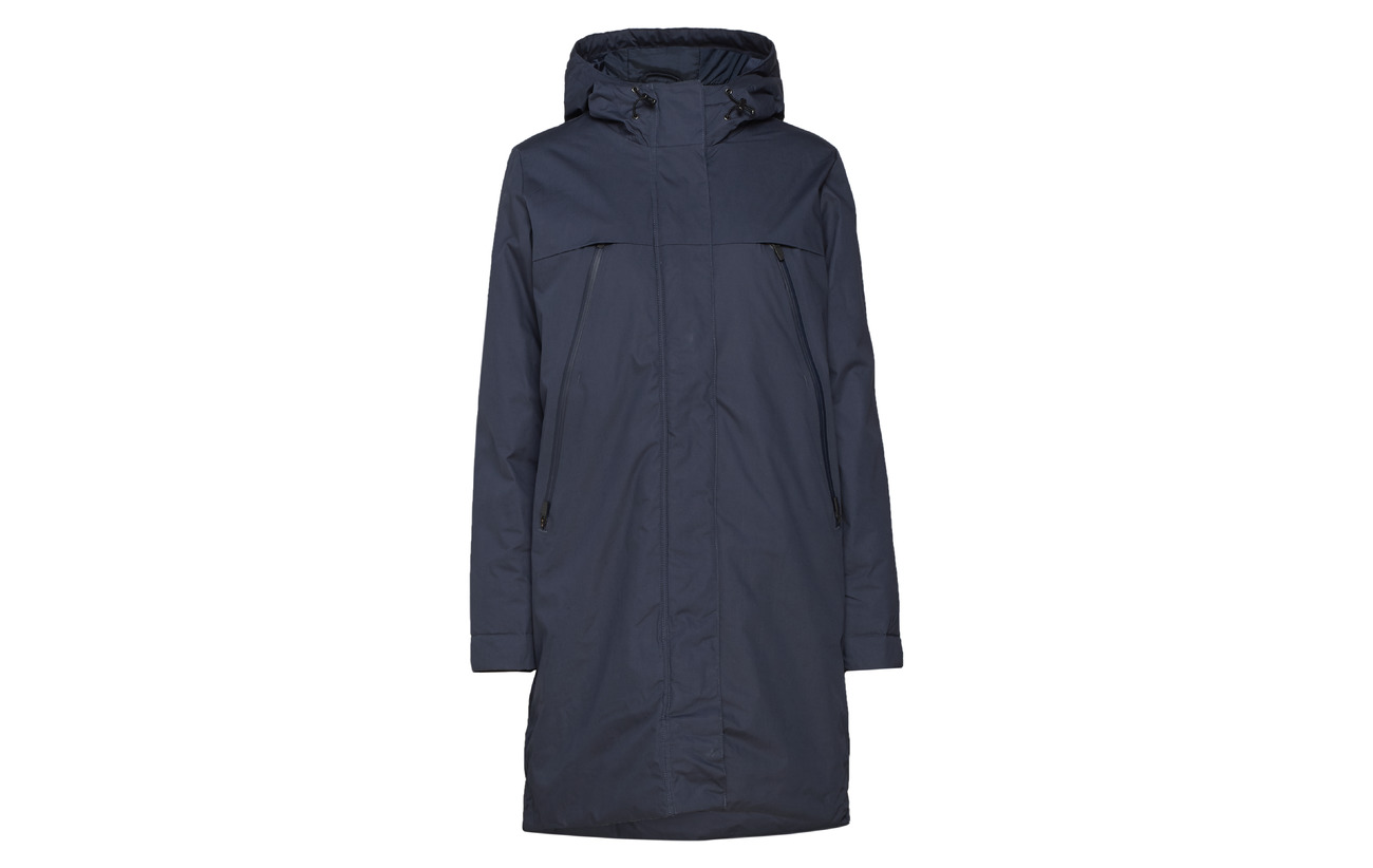 Second Coton Charo Female Navy Polyester Coat 100 vpS8vqF