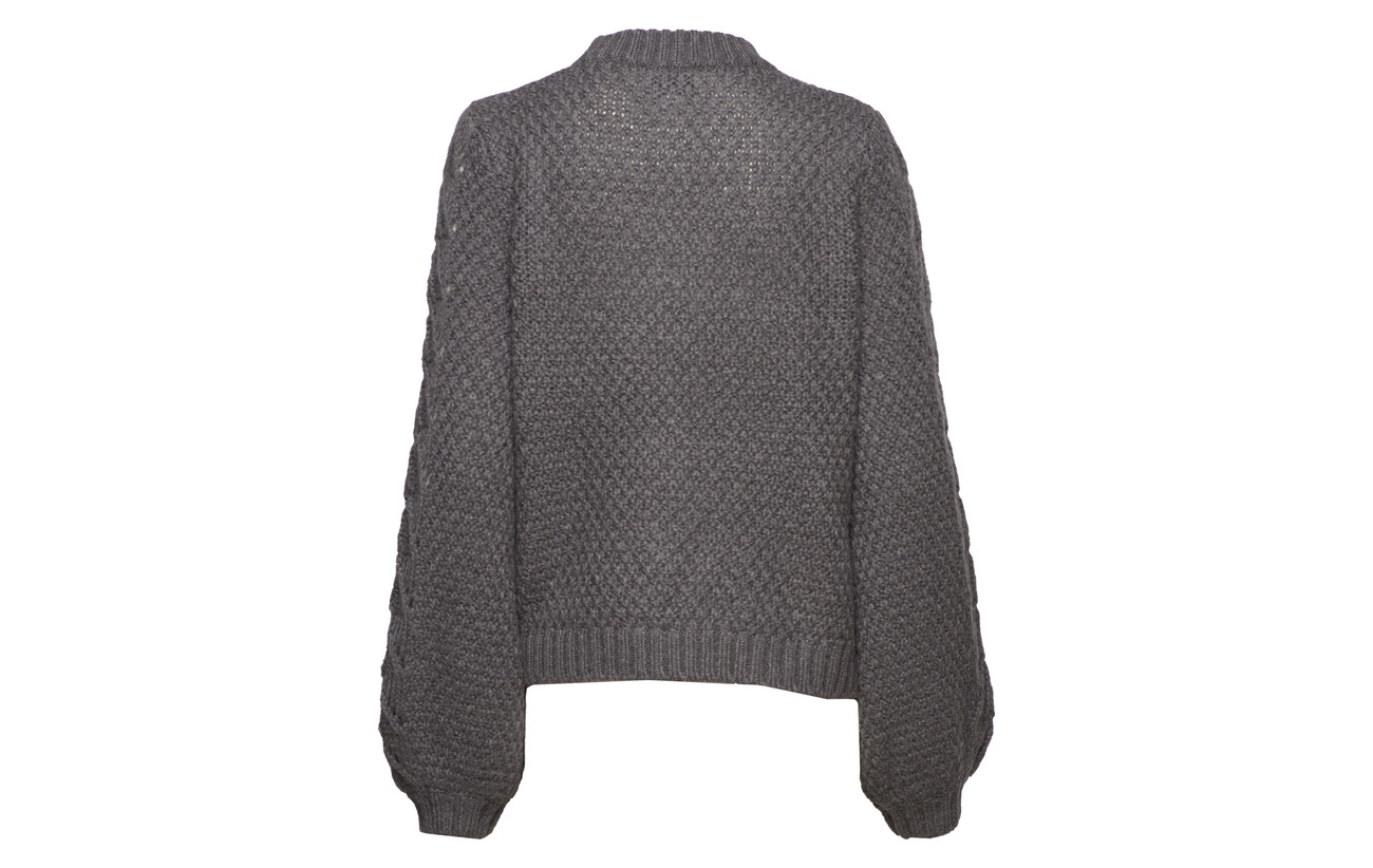 Knit 28 30 Melange Laine Tali neck Second Female Mohair Polyamide 40 Grey O Dark pEv77q
