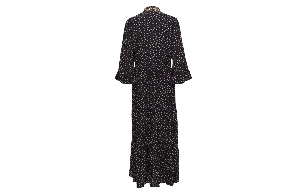 Second Viscose 100 Female Maxi Black Syrenia Dress wxZvw1Fq