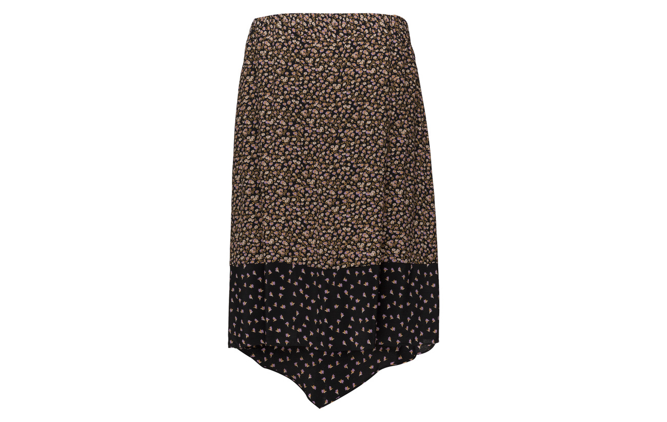 Female Skirt Black Viscose 100 Syrenia Second f1qOEdw1n