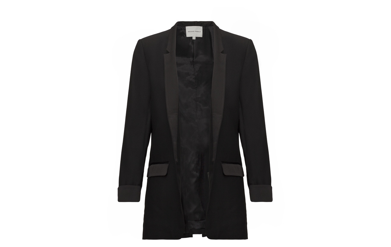 Blazer Viskose Polyester 48 52 Polyester Female Black Baylor 100 Second qEFB0x