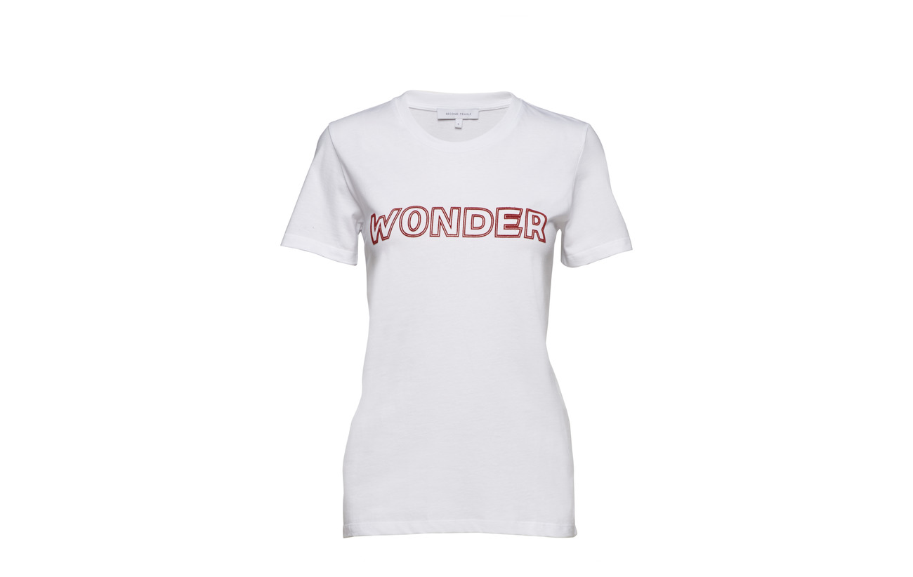 White Coton Outline Wonder 100 Tee Female Second IxHS0qRn