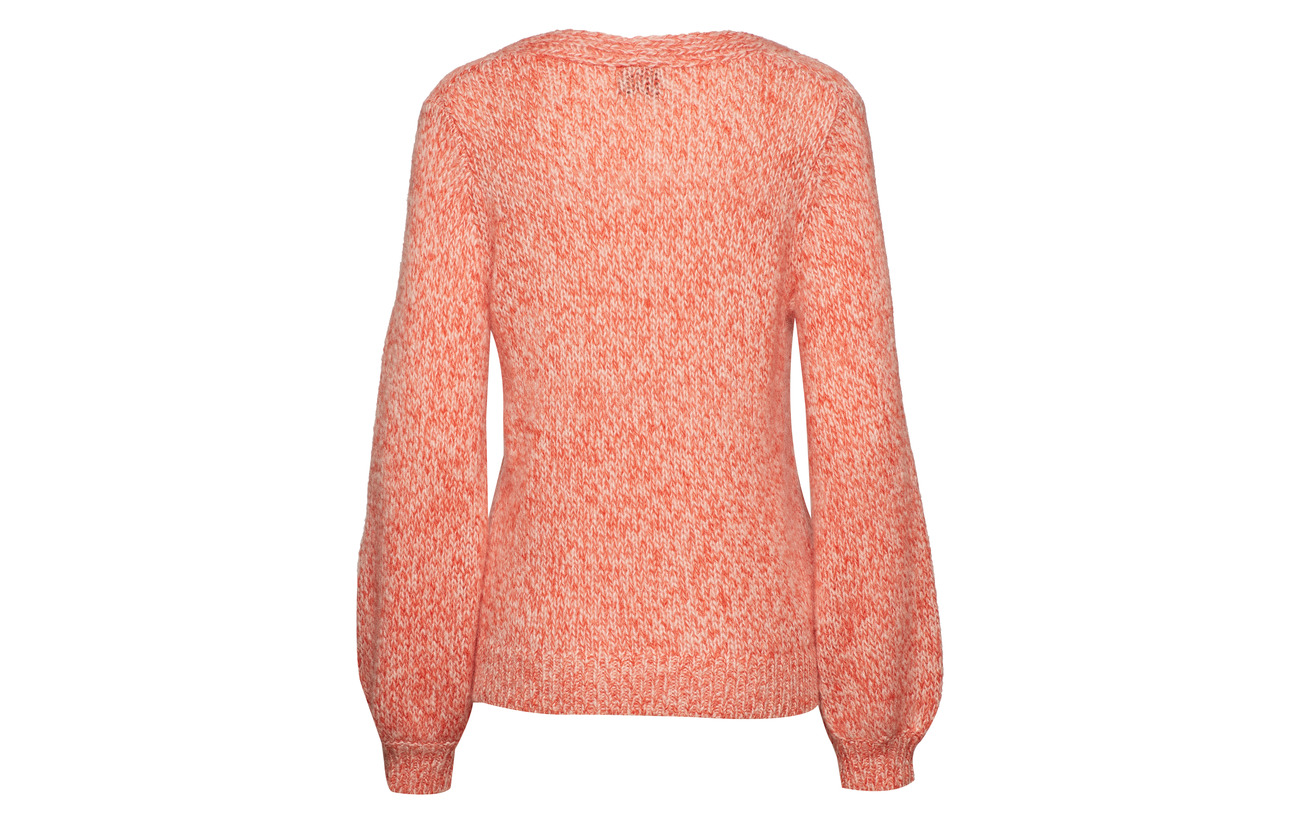 Pink 30 Polyamide Mohair Gossamer Knit V Second 42 West Female Laine neck 28 OYSwnxf6q