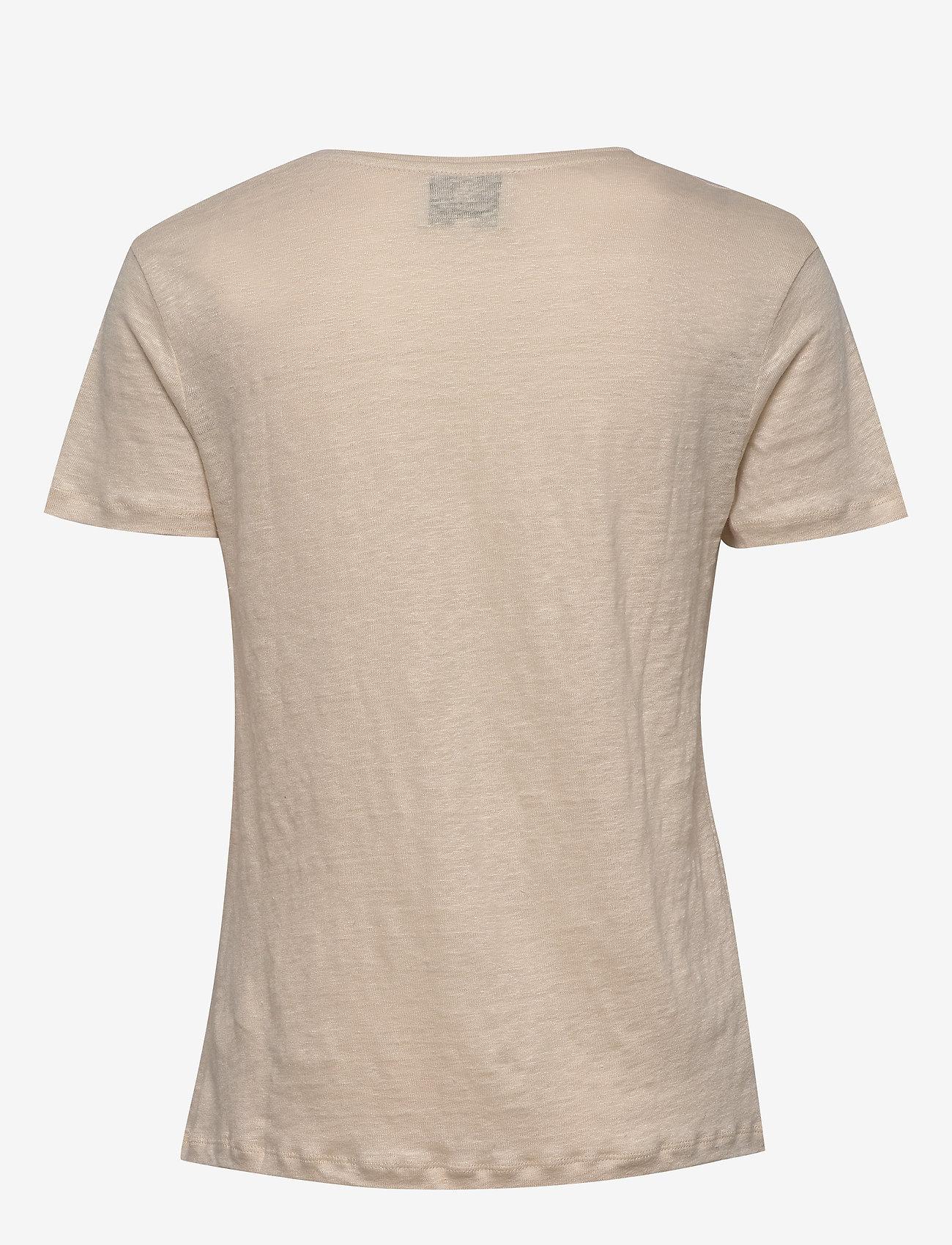 Second Female Peony O-neck Tee - T-shirts & Tops MACADAMIA