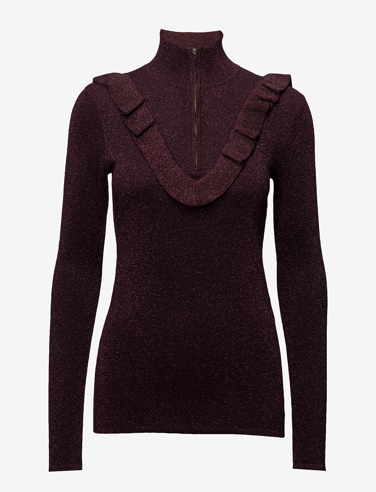 Second Female - Idal Knit T-neck - turtlenecks - port royale - 0
