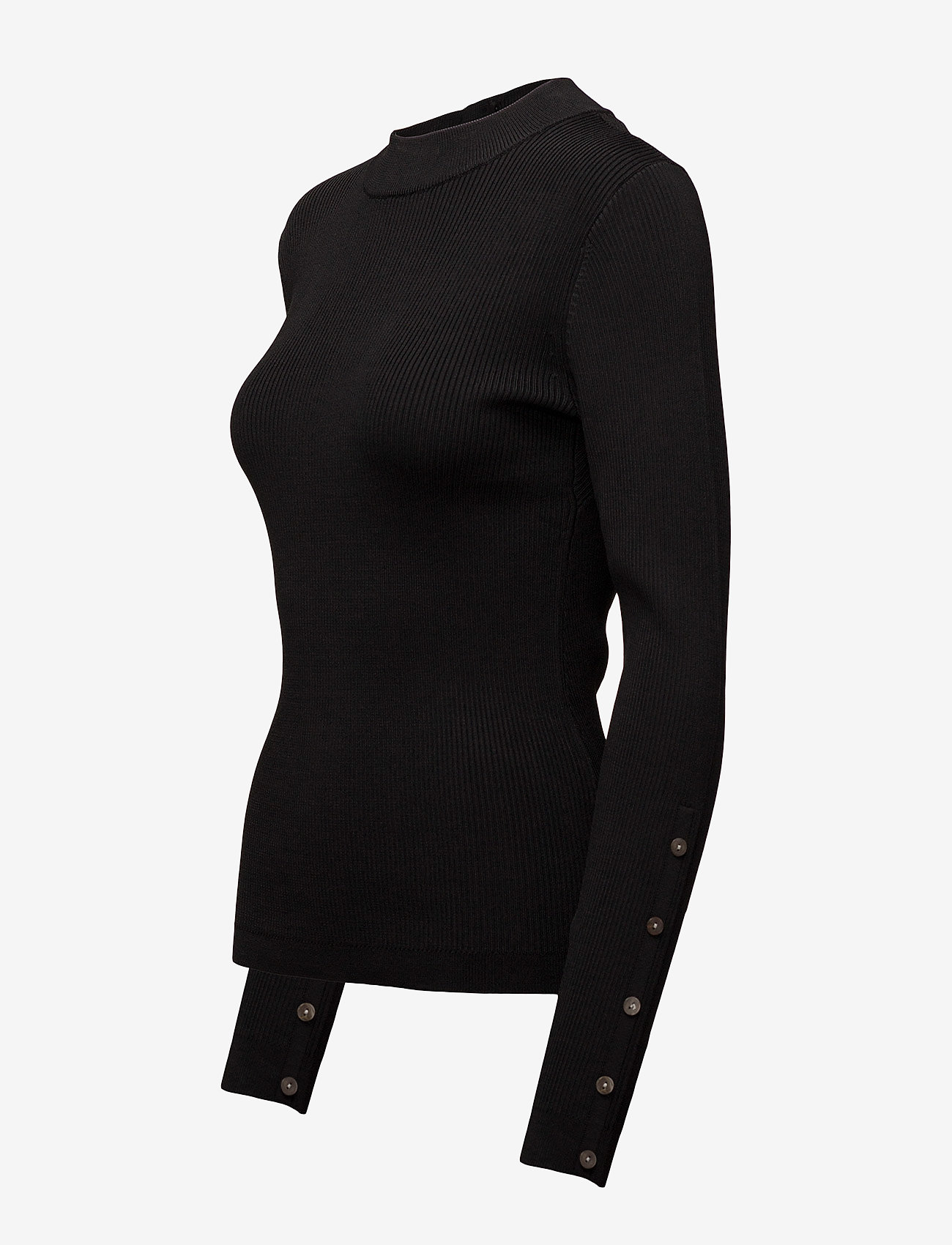 Second Female Kokia Knit O-neck - Gebreide truien Black