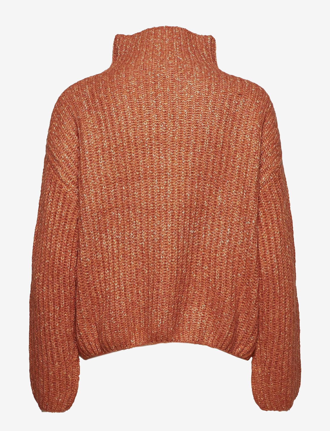 Second Female - Ambra Knit T-neck - pulls col roulé - carnelian
