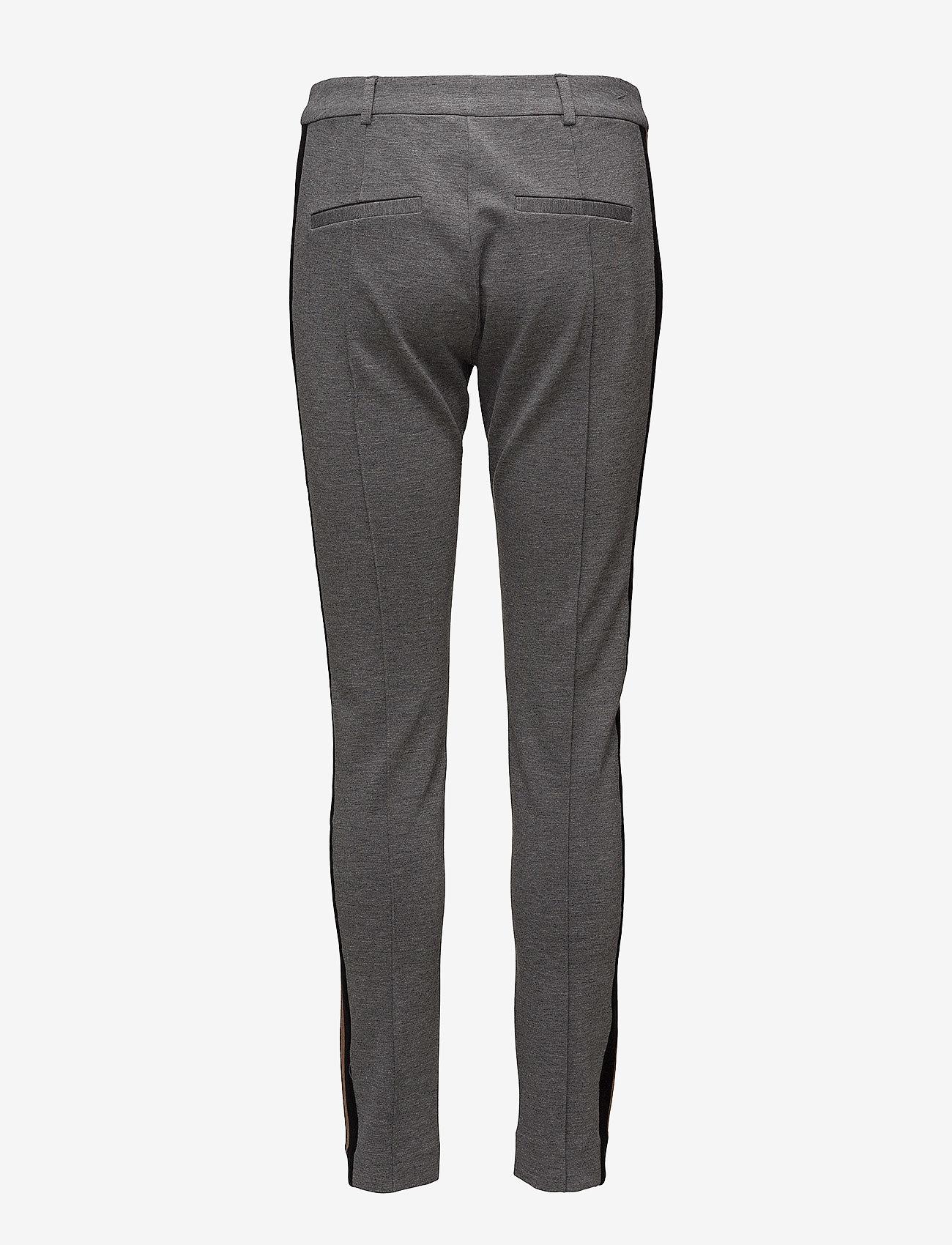 Second Female Halina Pants - Bukser GREY MELANGE - Dameklær Spesialtilbud