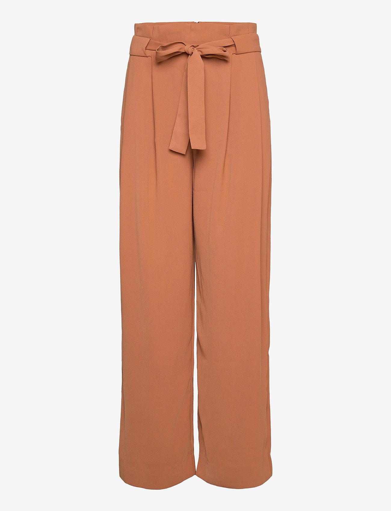 Second Female - Yasemin Long Trousers - bukser med brede ben - argan oil - 0