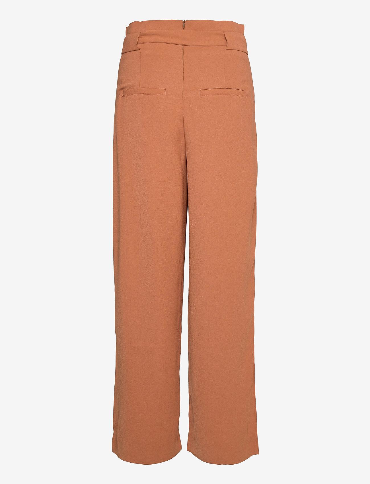 Second Female - Yasemin Long Trousers - bukser med brede ben - argan oil - 1