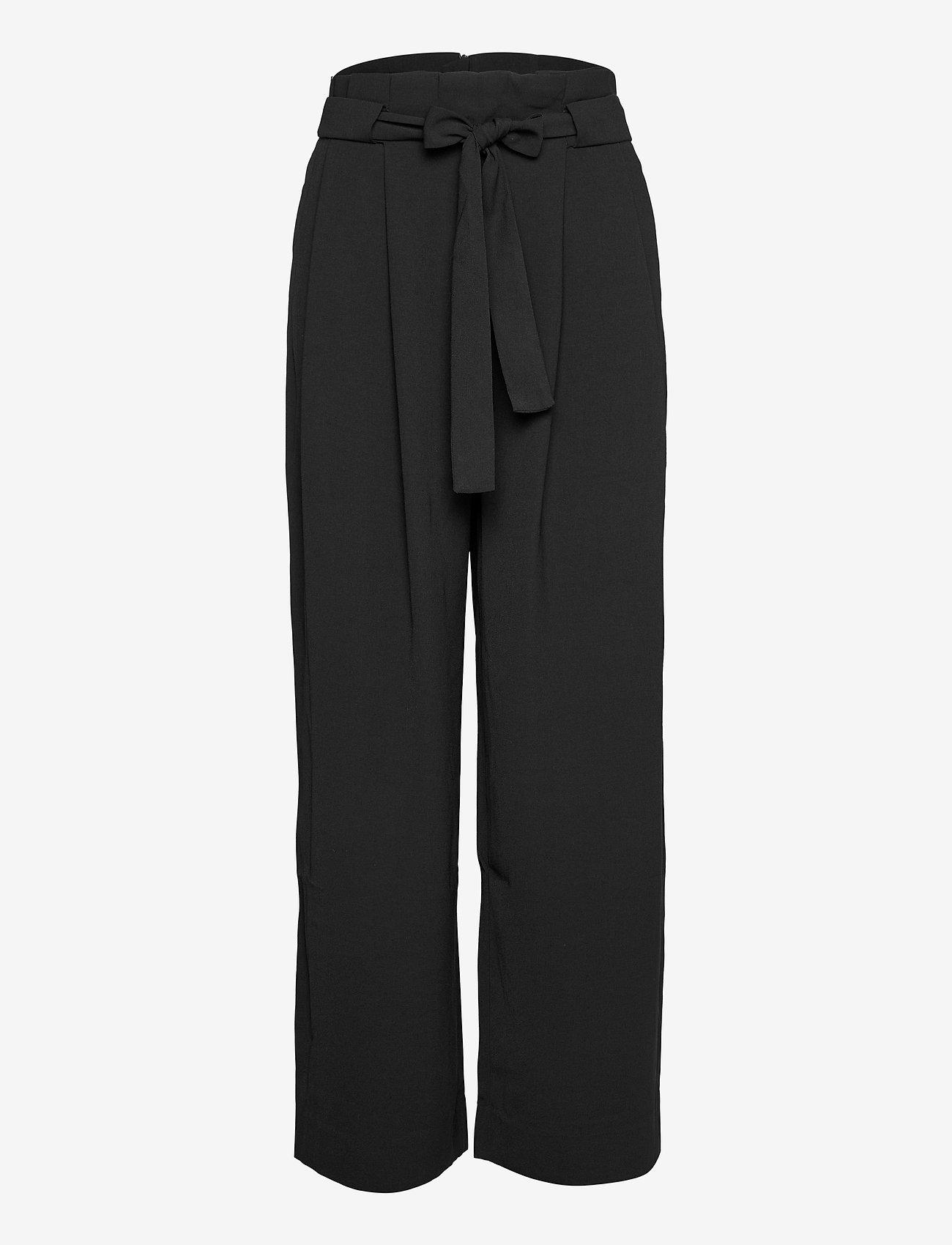Second Female - Yasemin Long Trousers - bukser med brede ben - black - 0
