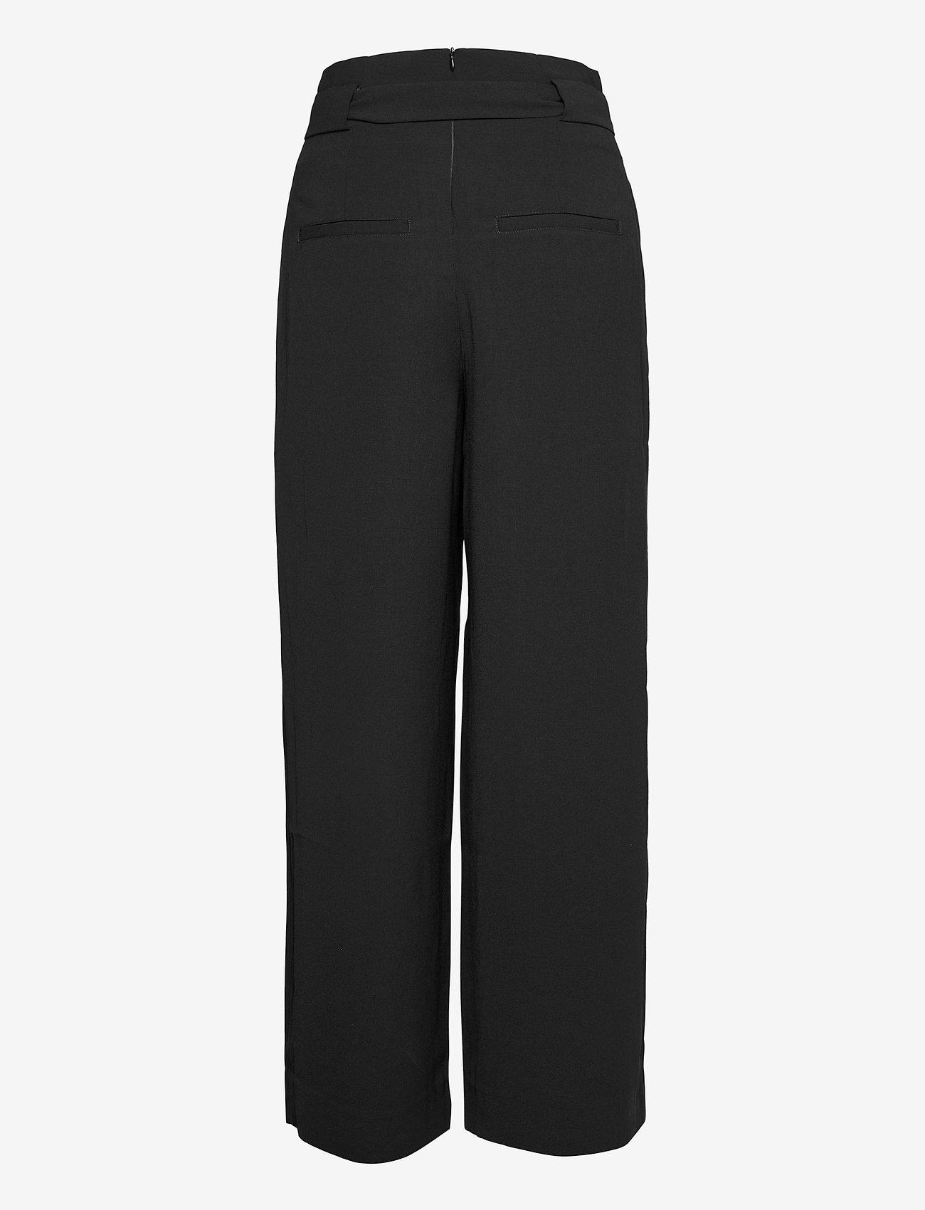 Second Female - Yasemin Long Trousers - bukser med brede ben - black - 1