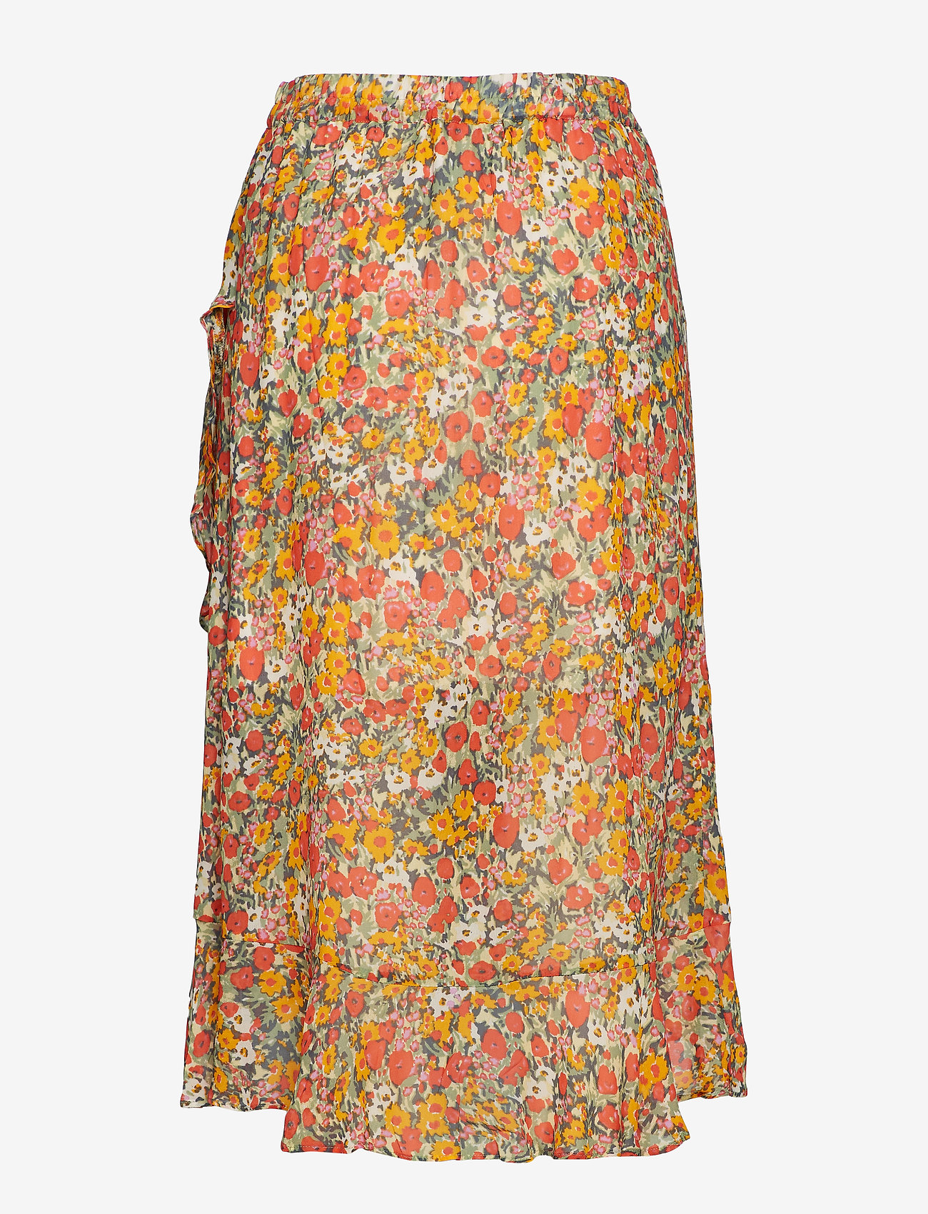 Second Female - Bloom Skirt - midi skirts - blazing orange