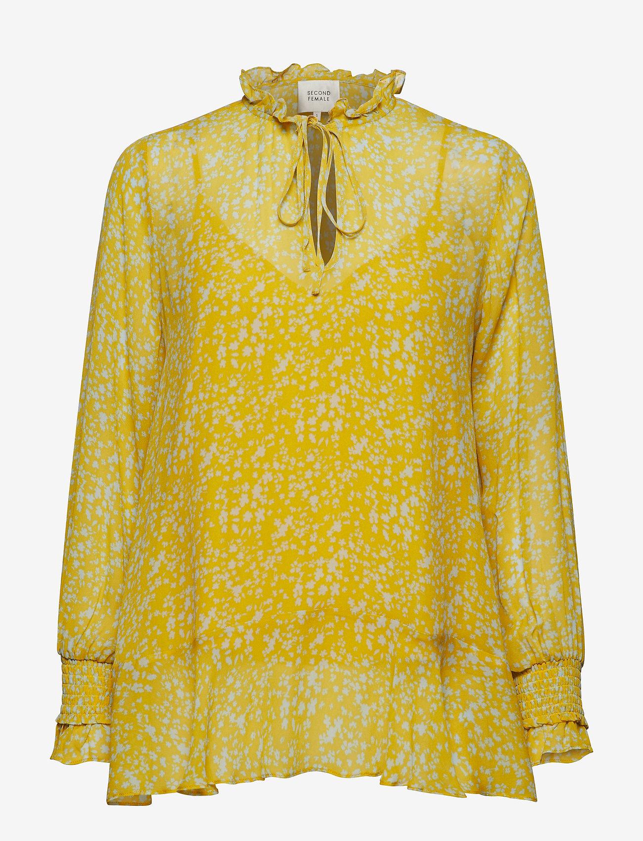 Second Female - Olivia Blouse - long sleeved blouses - sunshine