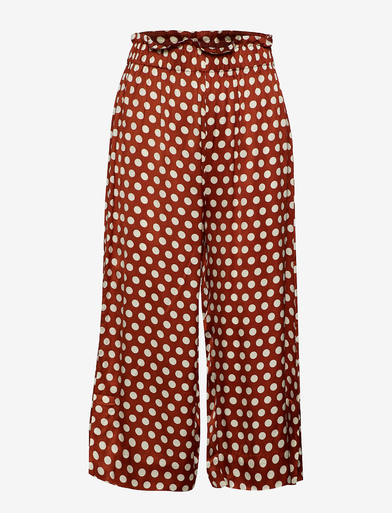 Second Female - Spotty HW Trousers - wide leg trousers - rustic brown