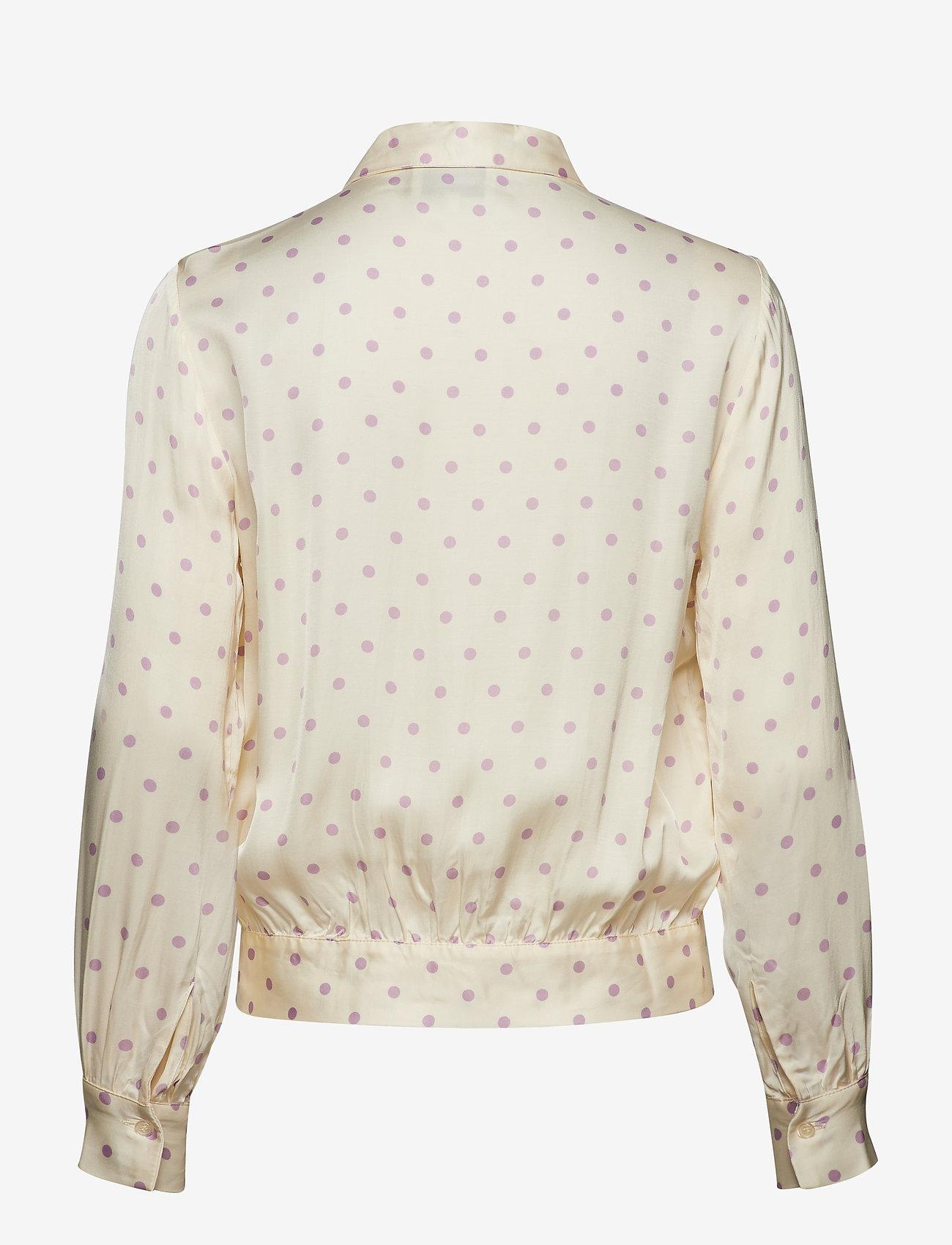 Second Female - Davina Short Shirt - long sleeved blouses - fair orchid