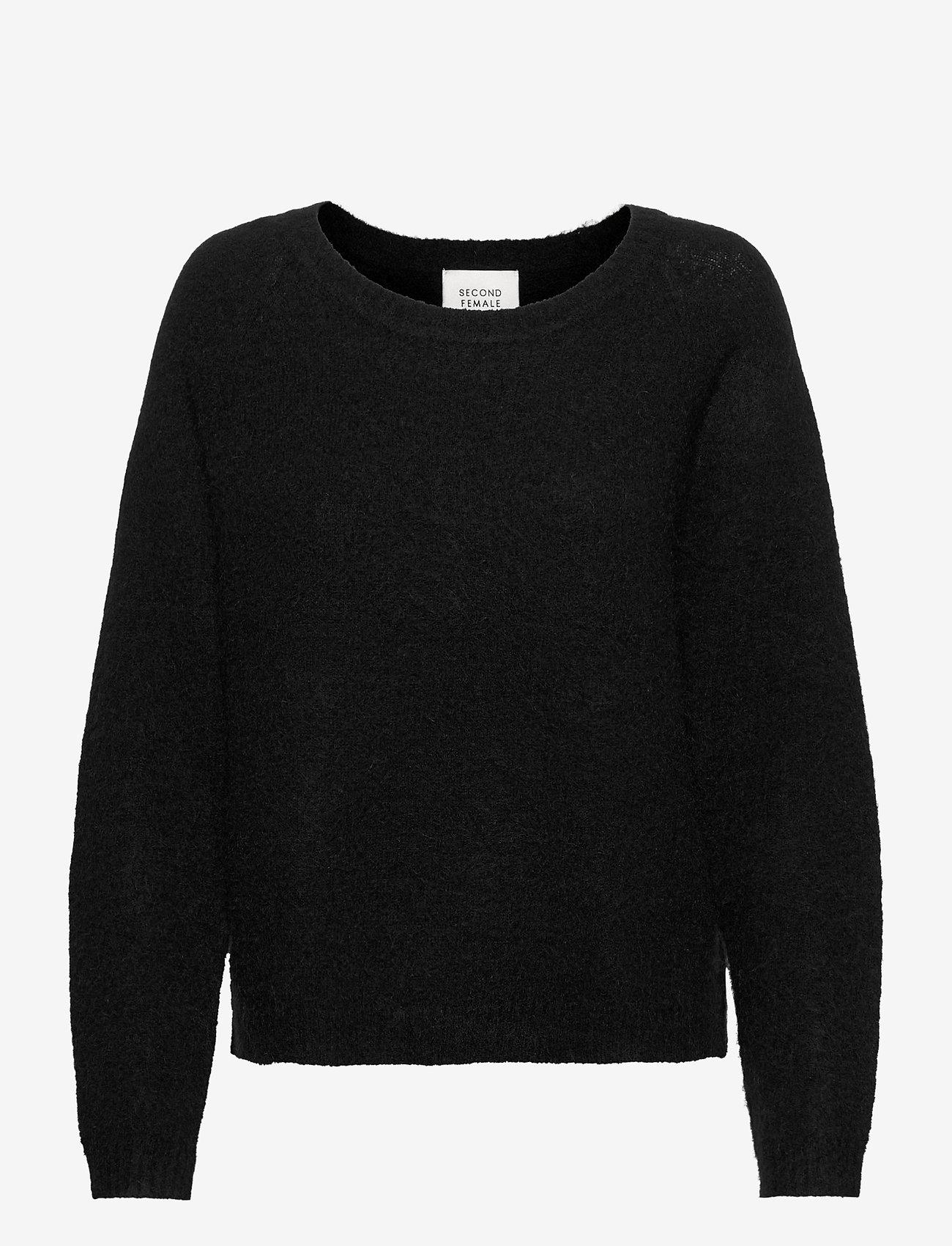 Second Female - Brook Knit O-Neck - trøjer - black - 0