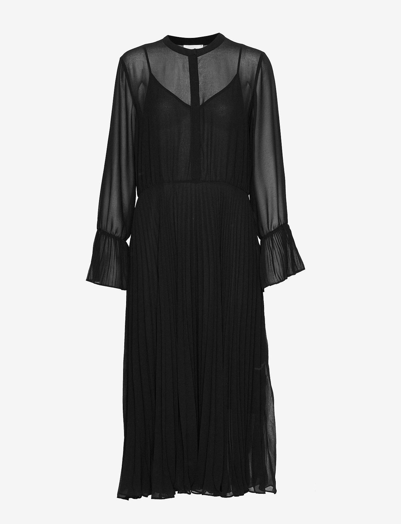 Second Female - Anita LS Maxi Dress - midiklänningar - black - 0