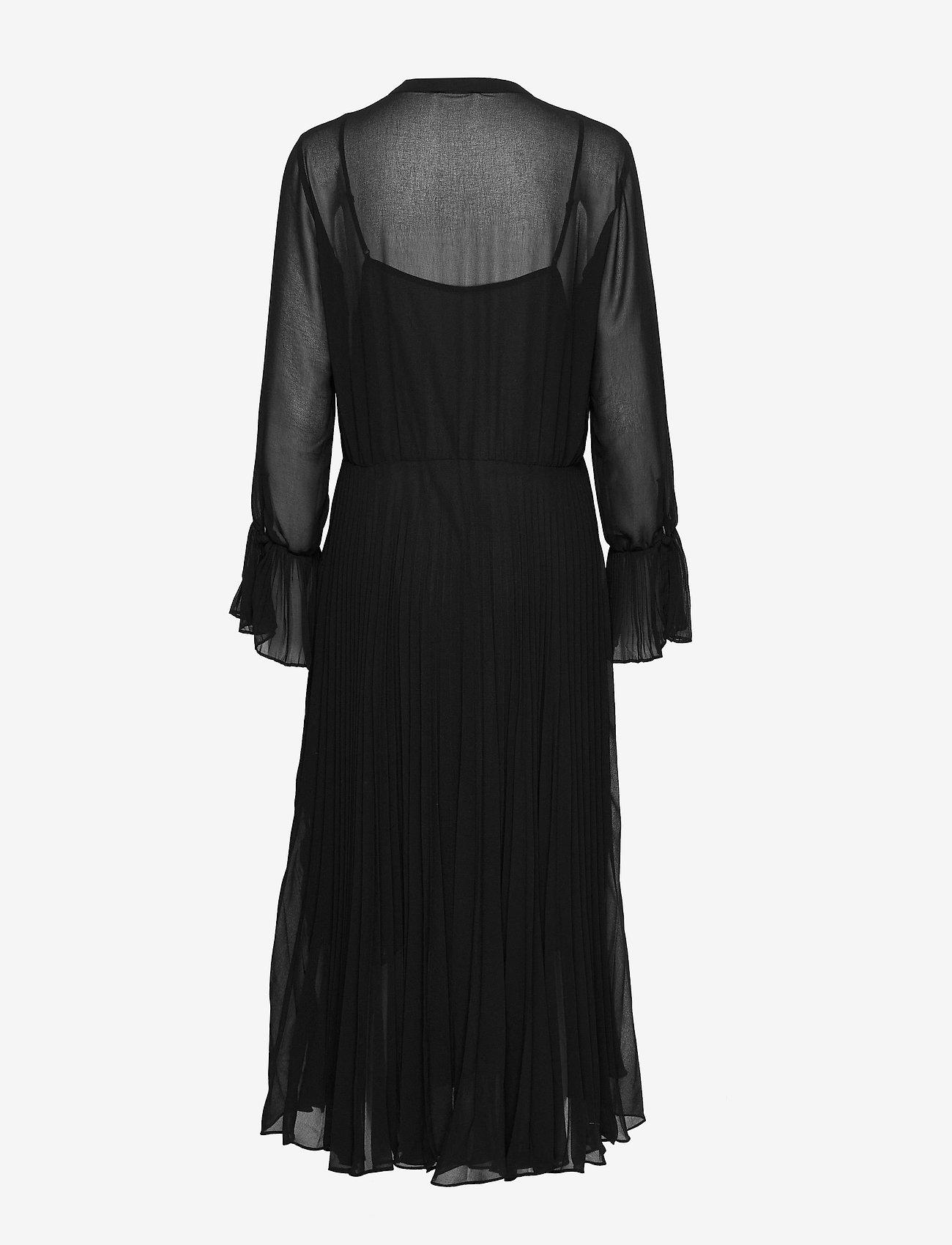 Second Female - Anita LS Maxi Dress - midiklänningar - black - 1