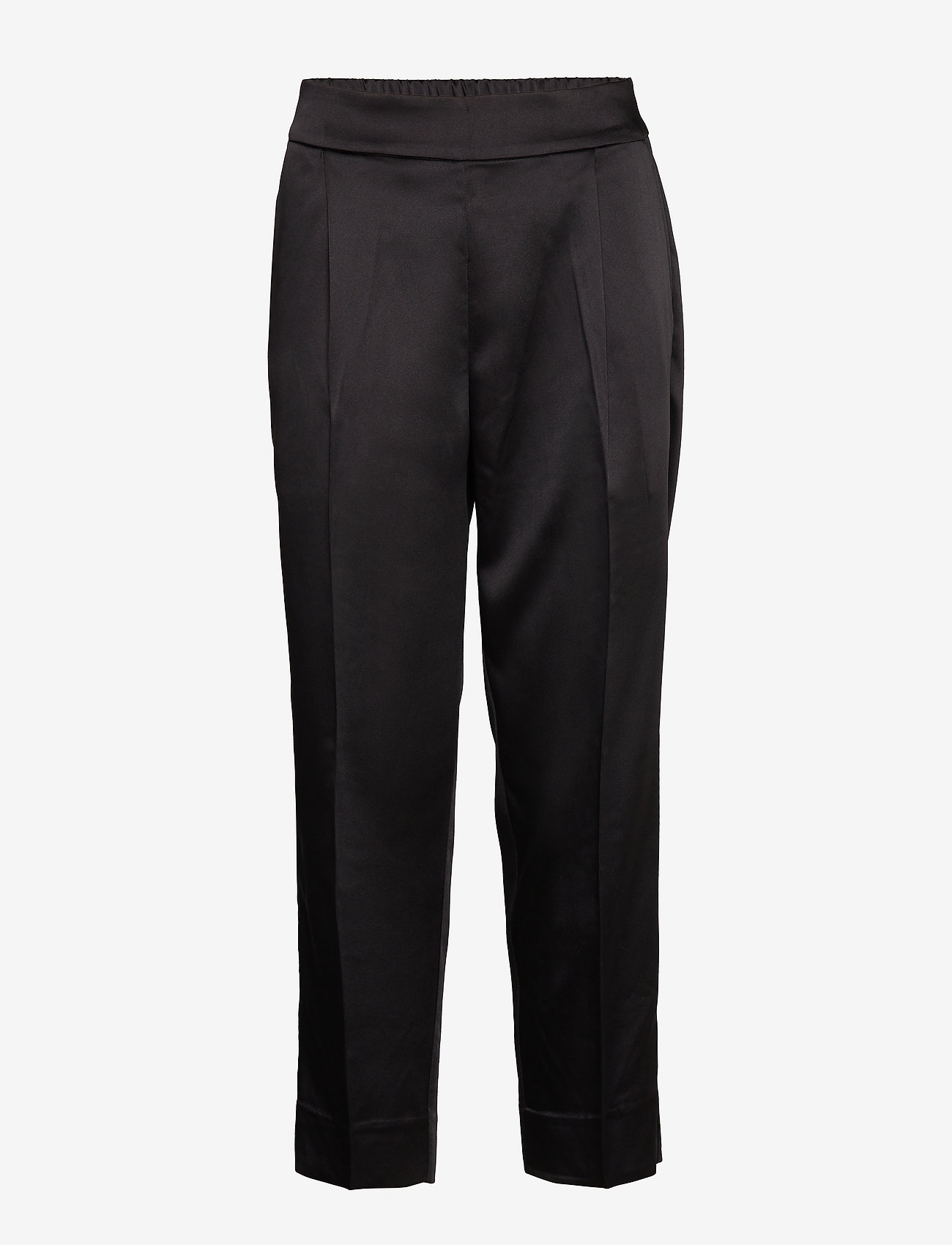 Second Female - This elegant trousers are made from a luxurious po lyester s - bukser med lige ben - black - 0