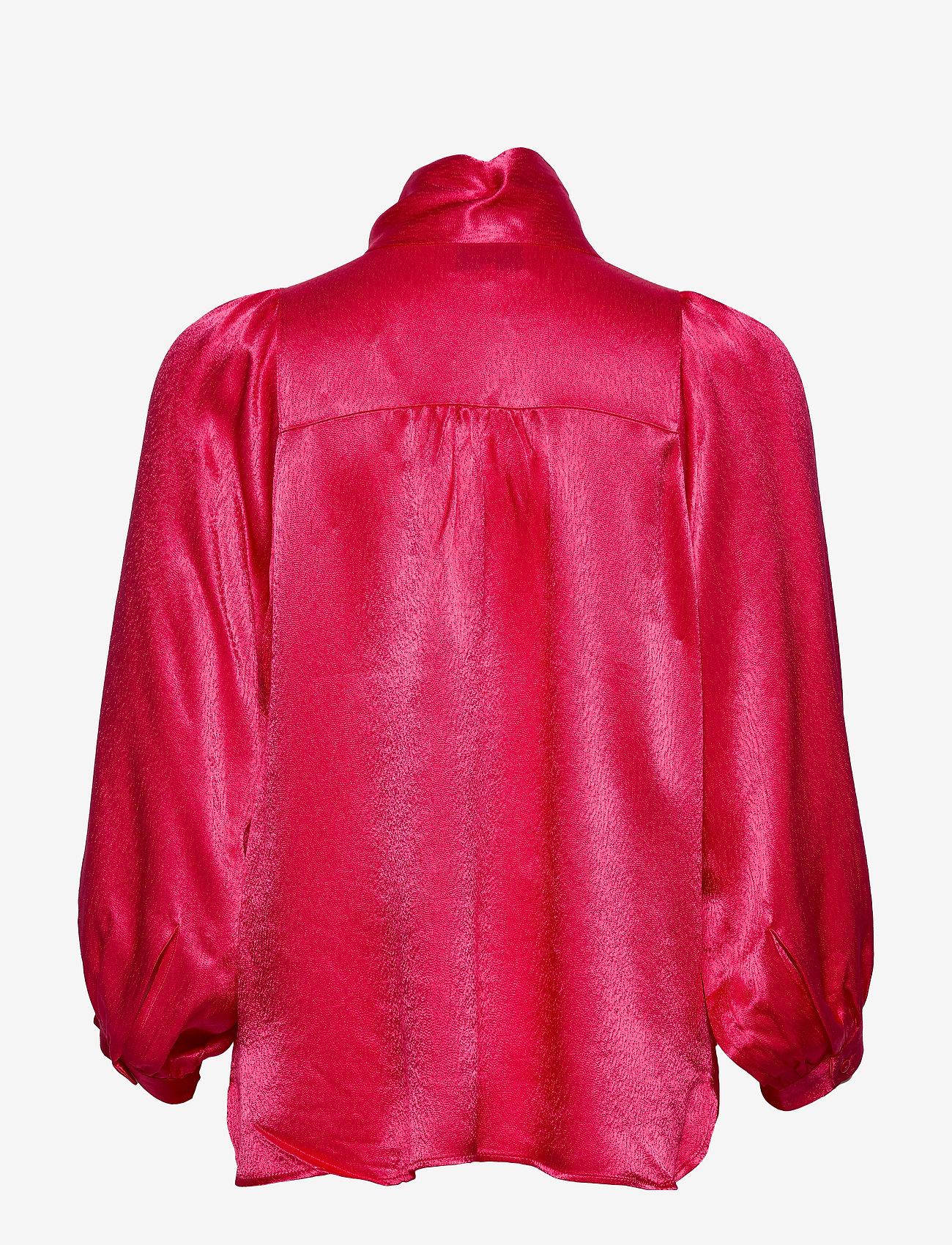 Second Female Moonlight Ls Blouse - Blusar & Skjortor Rose Red
