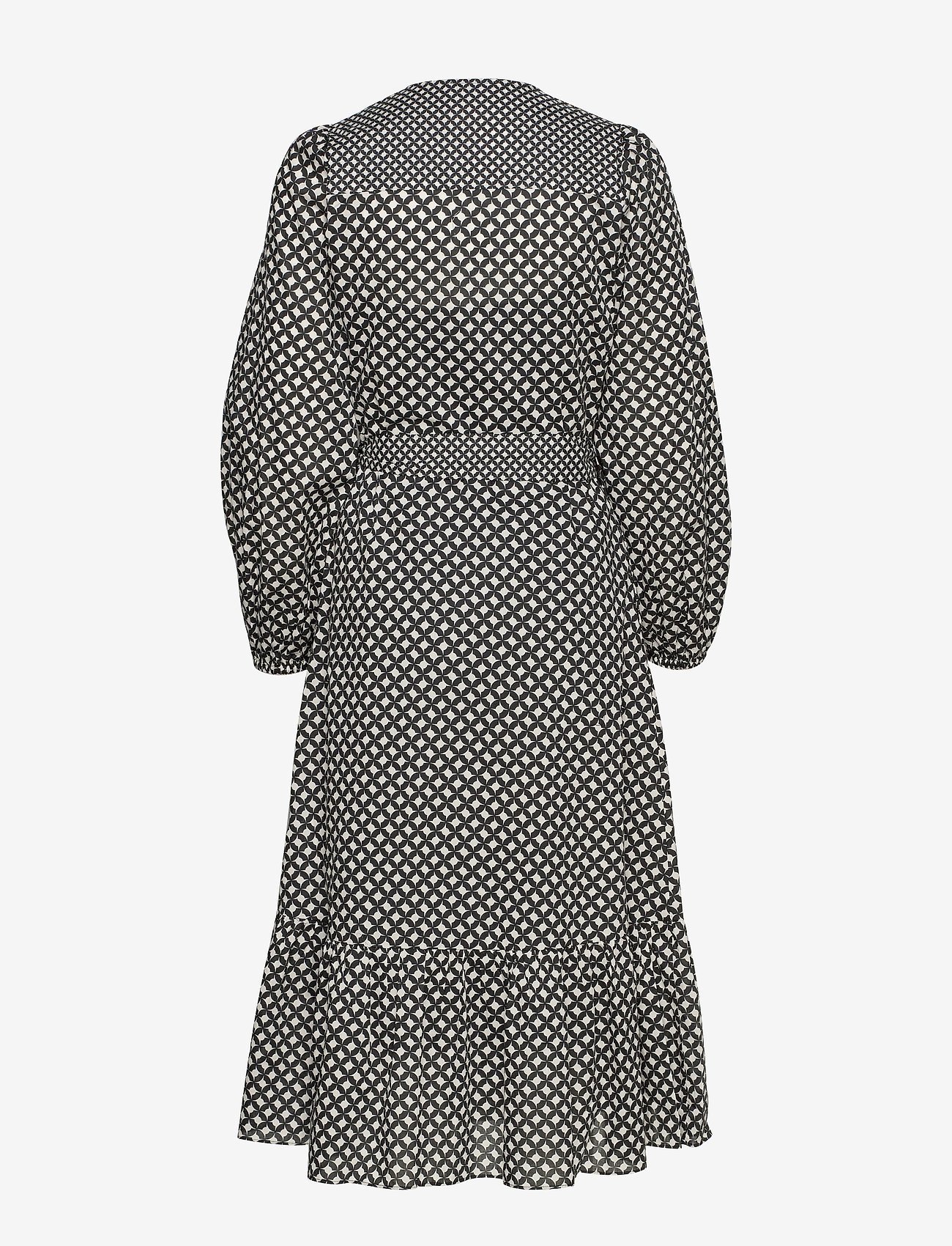 Second Female - Gamma LS Midi Dress - omlottklänningar - black - 1