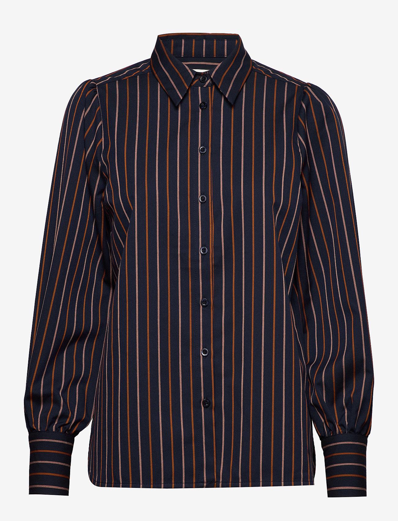 Second Female - Agona LS Shirt - långärmade skjortor - night sky - 0