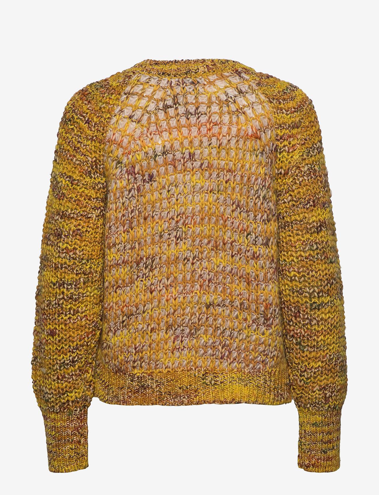 Second Female - Oak Knit O-Neck - trøjer - golden rod - 1