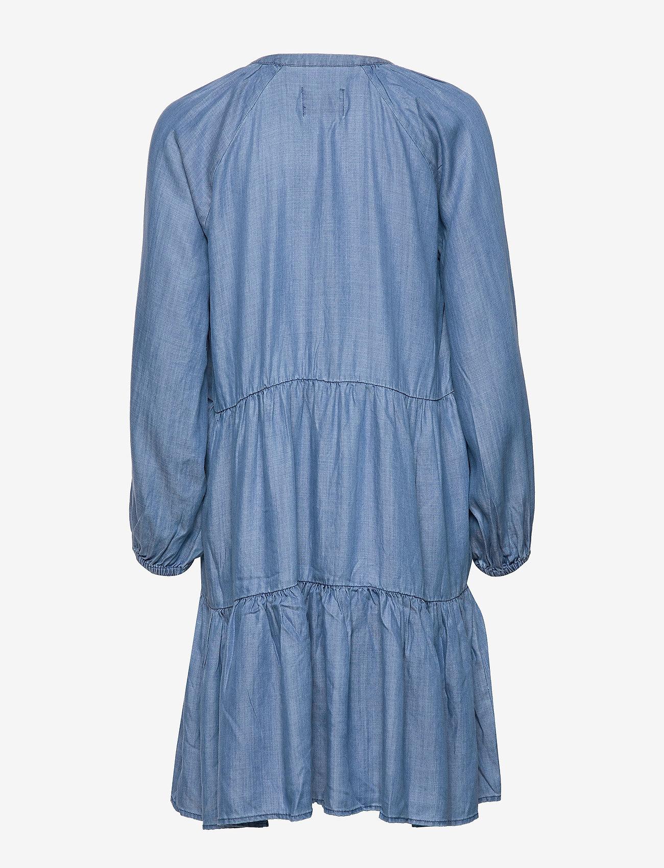 Second Female - Lilla LS Dress - jeansklänningar - blue denim - 1