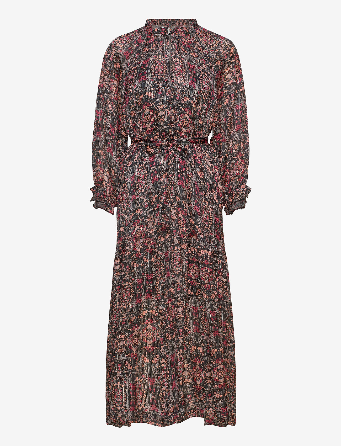 Second Female - Signe SS Maxi Dress - midiklänningar - black - 0