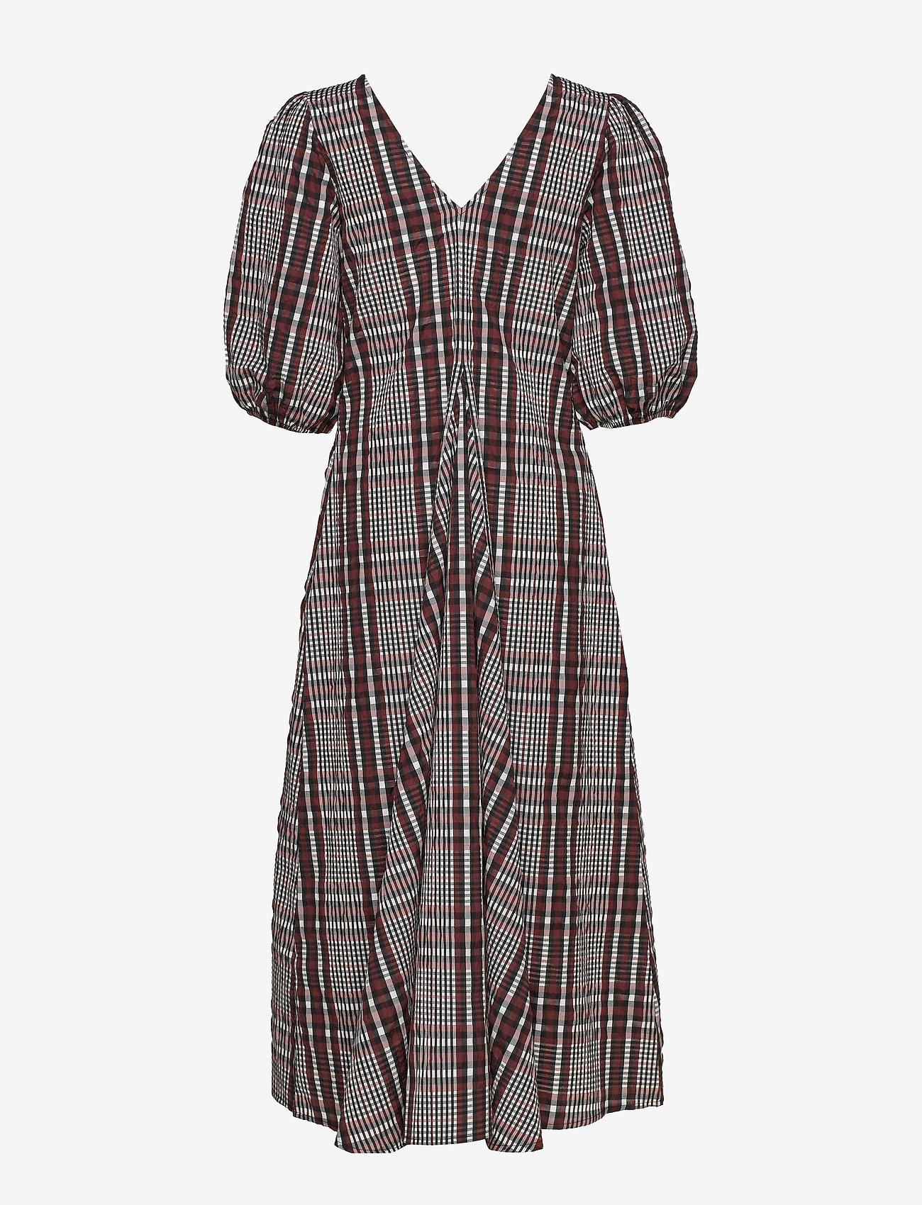 Second Female - Emily SS Long Dress - midi kjoler - henna - 1