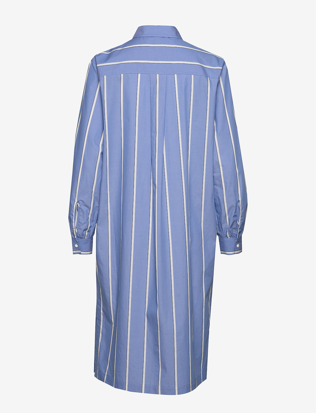 Second Female - Tona LS Dress - midi kjoler - chambray blue - 1