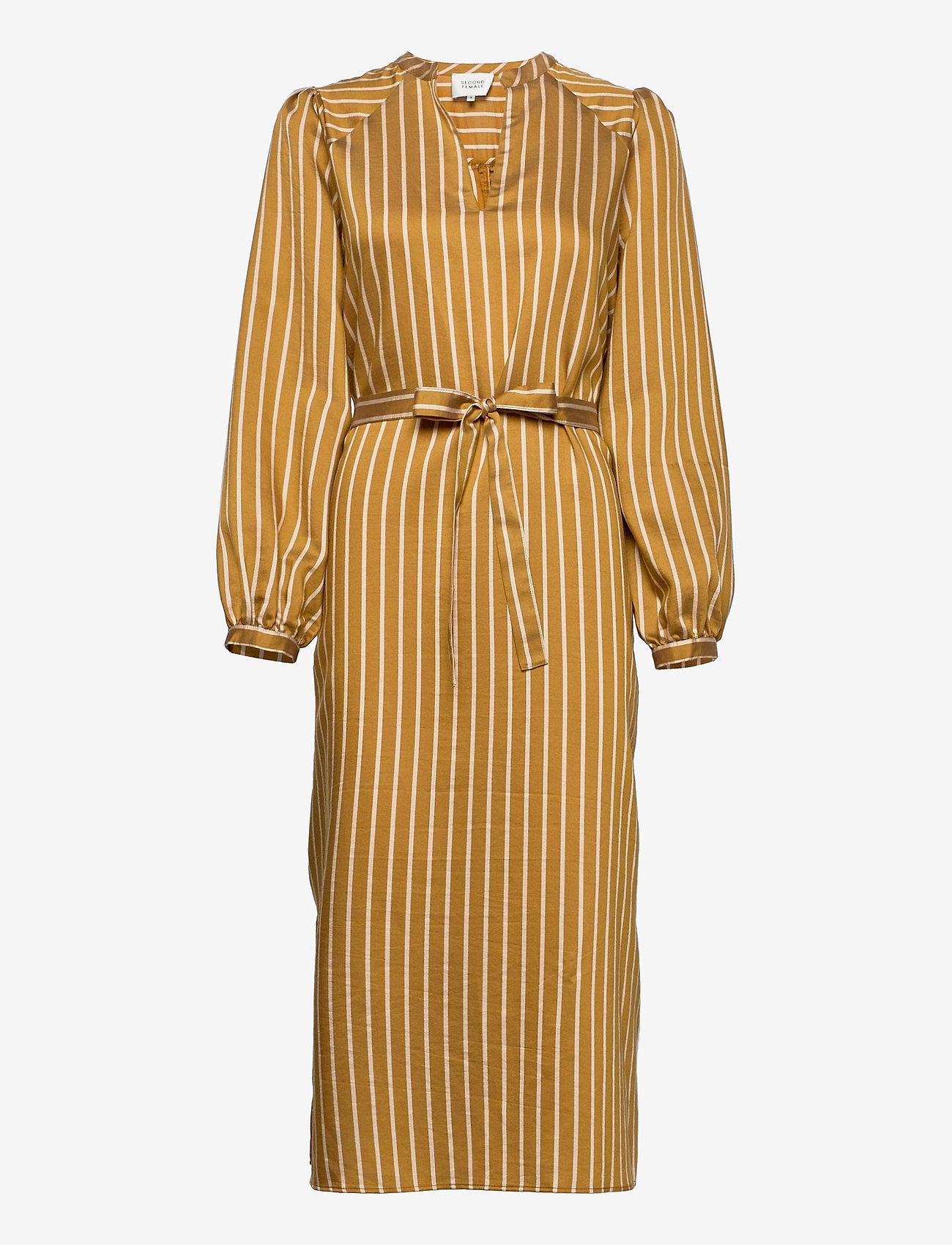 Second Female - Diana Dress - sommarklänningar - golden brown - 0