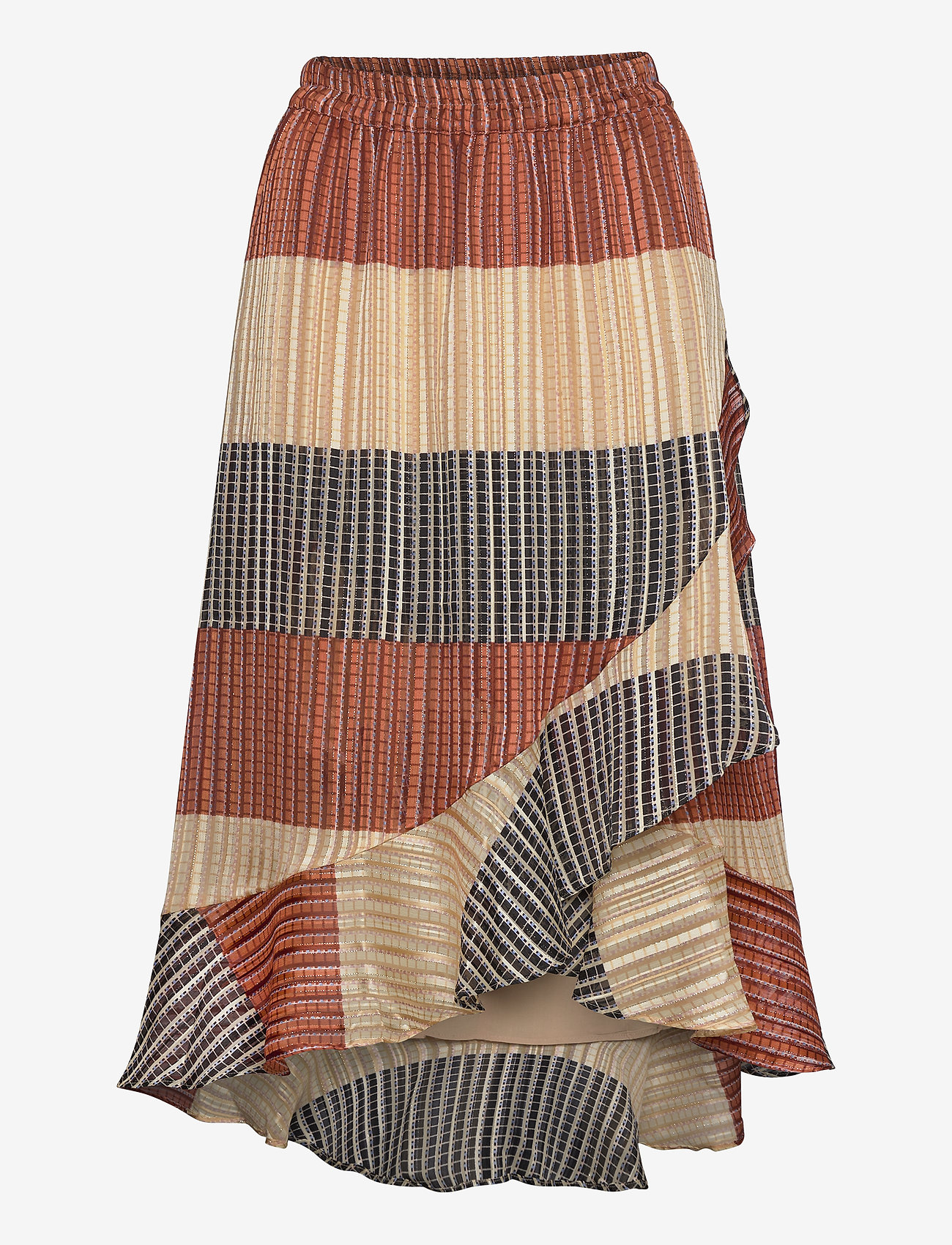 Second Female - Board MW Wrap Skirt - midi skjørt - apricot brandy - 0