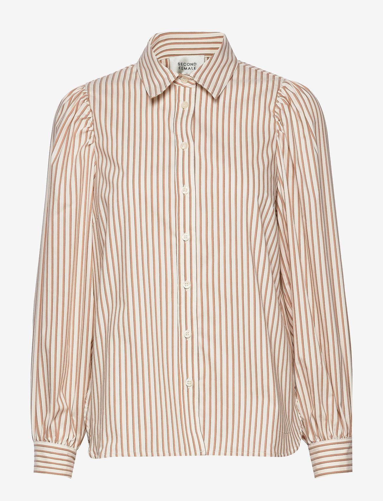 Second Female - Kiara LS Shirt - langermede skjorter - praline - 0